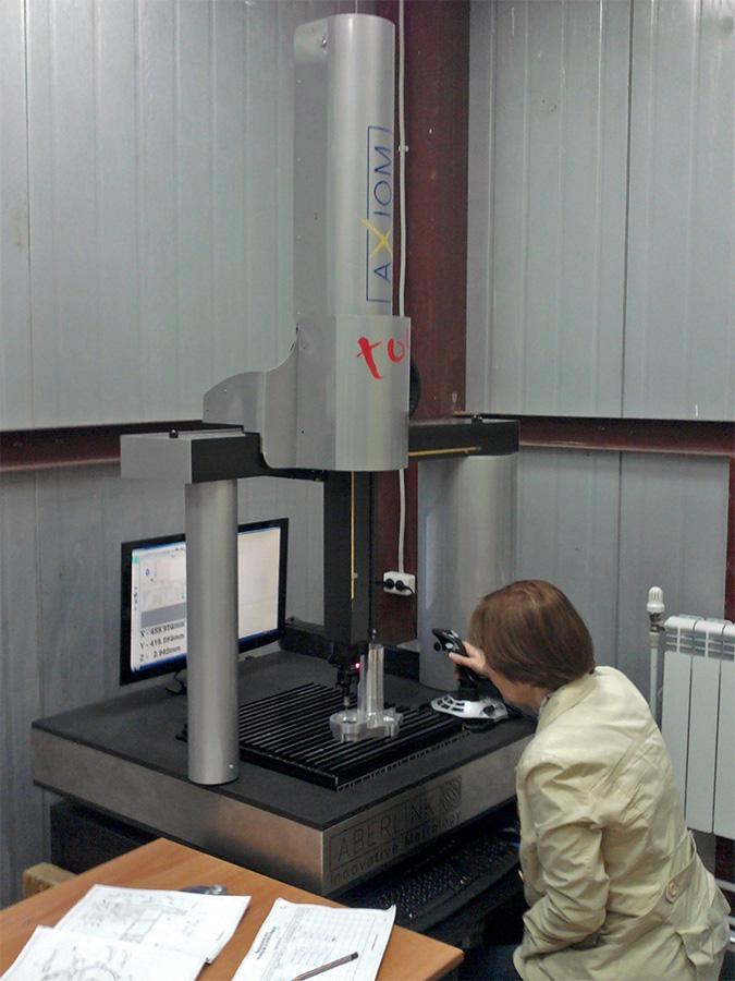 Контроль качества на портальной измерительной машине