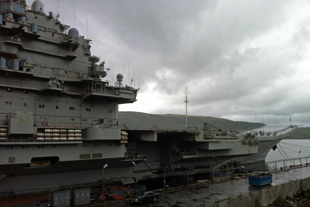 Тяжелый авианесущий крейсер «Адмирал Флота Советского Союза Кузнецов» совершил деловой заход в кипрский порт Лимасол