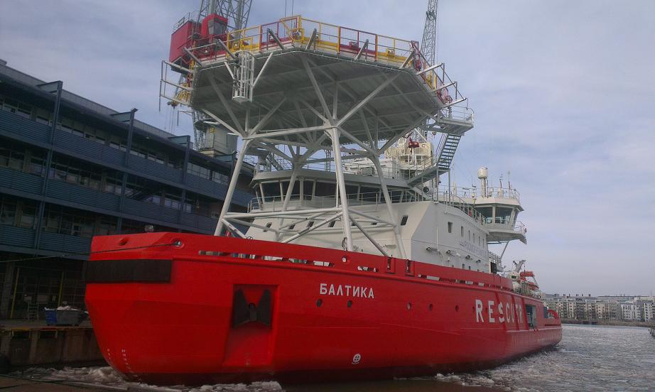 """Инновационное судно-ледокол """"Балтика"""" готово к передаче аварийно-спасательному флоту России"""