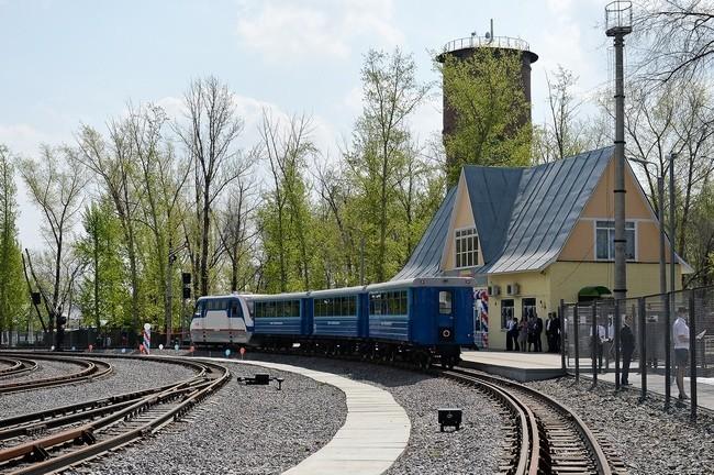После реконструкции открыта детская железная дорога
