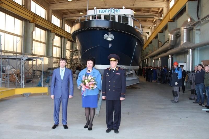"""""""Озерная верфь"""" спустила на воду многоцелевой скоростной катер проекта 14М"""