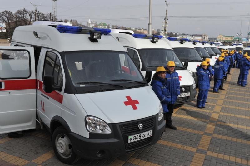 Автопарк скорой медицинской помощи г. Чебоксары и г. Новочебоксарск обновился на 100%.