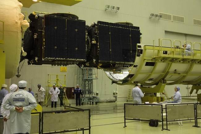 подготовка к запуску блока космических аппаратов «Экспресс-АТ1» и «Экспресс-АТ2».