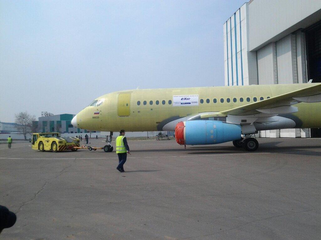 SSJ-100 с заводским номером 95060