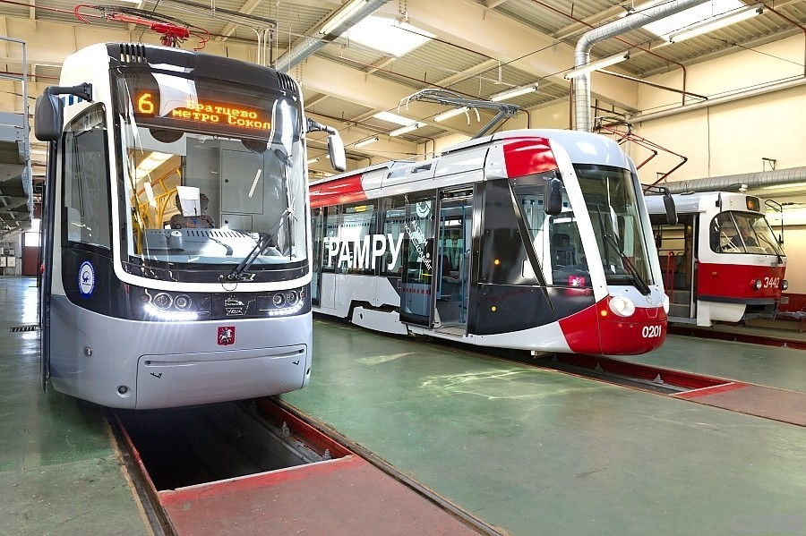 В Москве представлены трамваи нового поколения производства «Уралтрансмаш»