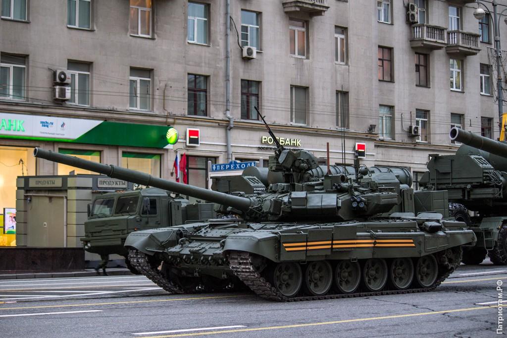 Основной боевой танк Т-90А.