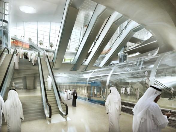Русские светильники в метро столицы Саудовской Аравии