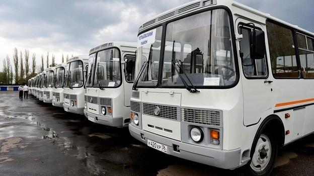 В Воронежской области 50 новых автобусов вышли на сельские маршруты