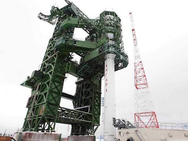 РКН «Ангара-1.2ПП» установлена на стартовом комплексе космодрома Плесецк (Архангельская область)