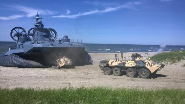 На Балтийском флоте состоялись учения по высадке воздушно-морского десанта