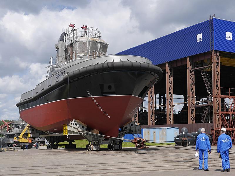 В Ленинградской области состоялся спуск буксира «РБ-413» для ВМФ России