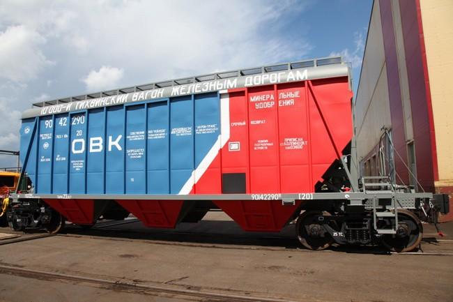 Тихвинский вагоностроительный завод выпустил десятитысячный грузовой вагон