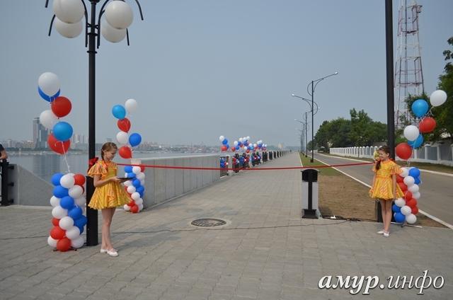 В Благовещенске открыли новый участок набережной реки Амур