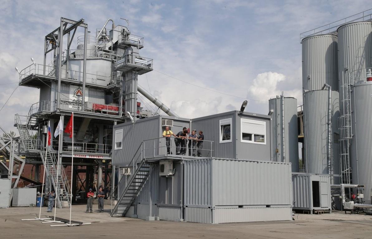 Новый асфальтобетонный завод запущен в Ленинградской области