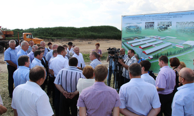 В Брянской области начато строительство молочного комплекса на 1800 голов крупного рогатого скота