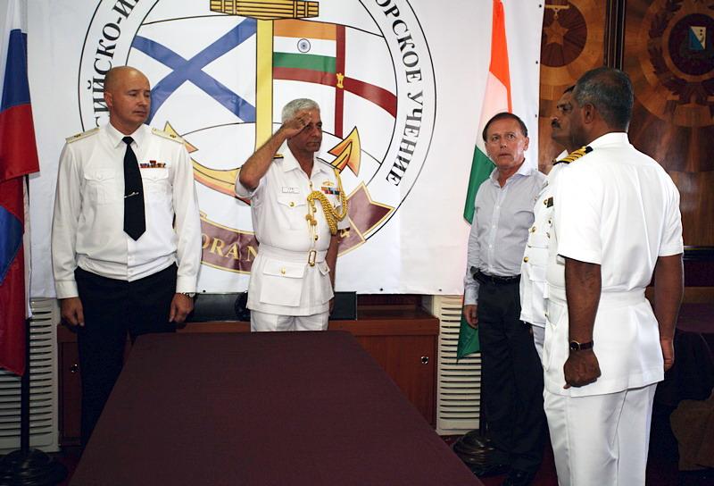 Российско–индийские военно-морские учения «ИНДРА-2014»