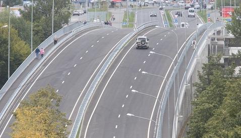 В Калининграде открыли путепровод и новую дорогу на Сельму