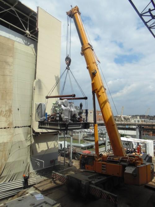 На Уфимской ТЭЦ-2 поставили на фундамент новую паровую турбину