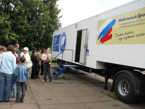 В Карелии начал работу специальный мобильный диабет-центр