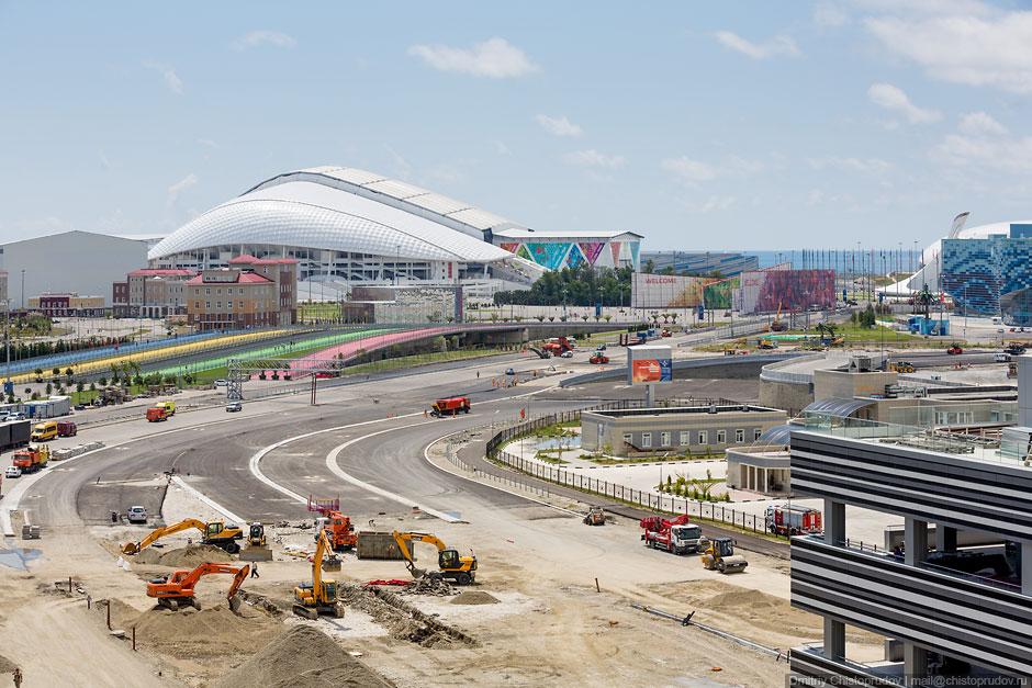 Трасса Формулы 1 в Олимпийском парке Сочи - фотоотчет Дмитрия Чистопрудова
