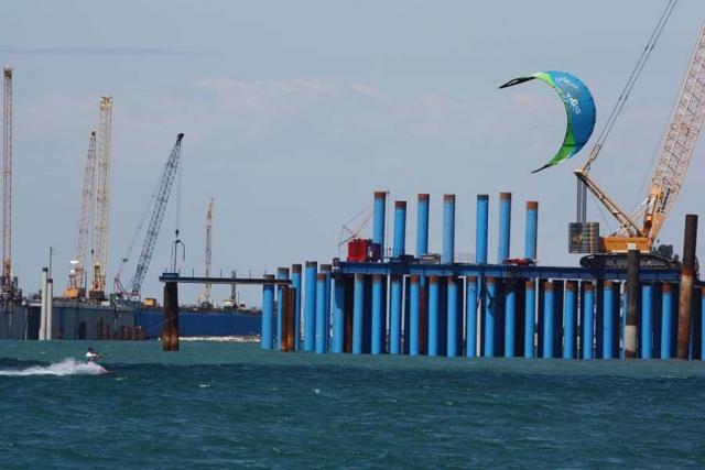 На острове Итуруп (Курилы) завершилось строительство портпункта в заливе Китовый
