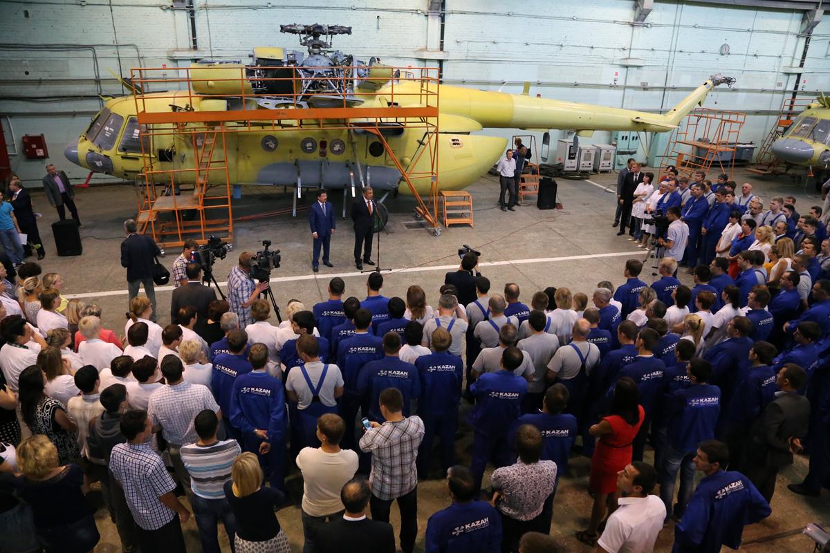 Казанский вертолетный завод холдинга «Вертолеты России» открыл новый малярно-отделочный цех