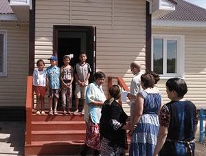 В деревне Стретенка Омской области завершено строительство фельдшерско-акушерского пункта.