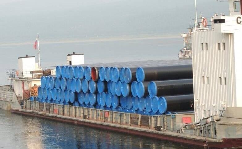 Первая партия труб для строительства газопровода «Сила Сибири» доставлена в Ленск (Якутия)