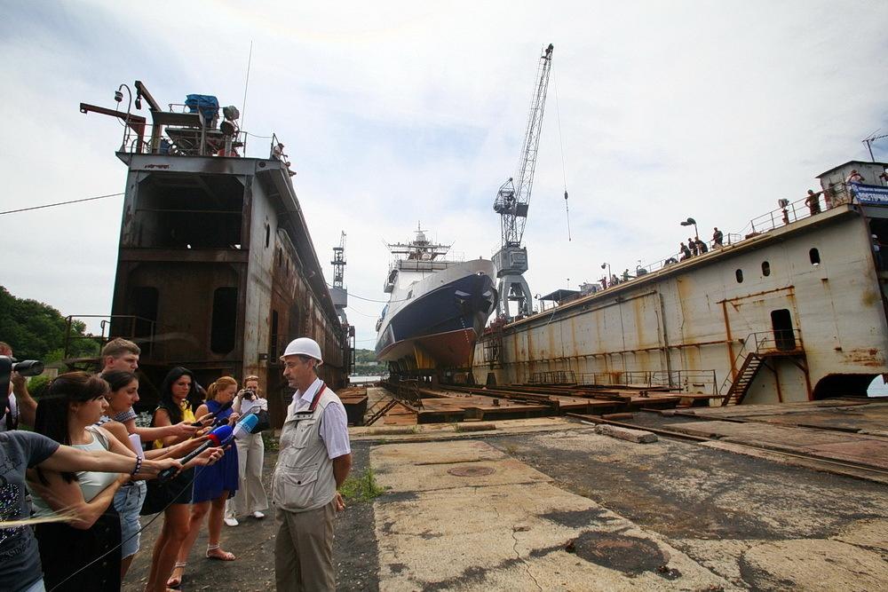 Спущен на воду пограничный сторожевой корабль «Сапфир»