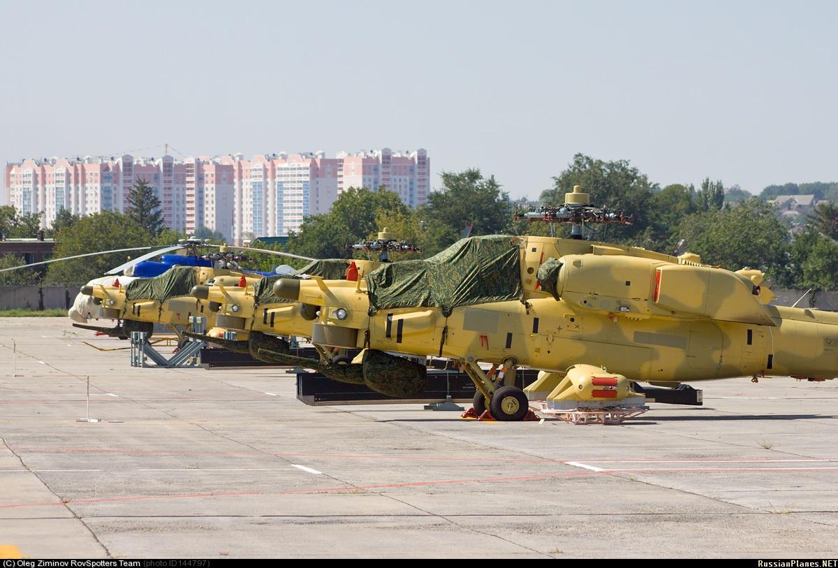 В Ирак доставлена очередная партия Российских ударных вертолётов