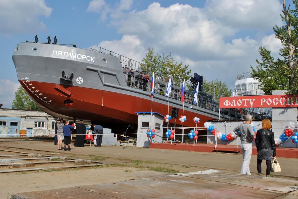 Ярославский судостроительный завод спустил на воду танкер-бункеровщик нового поколения
