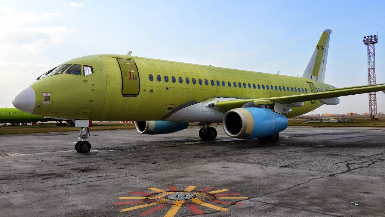 Взлетел очередной SSJ-100 для мексиканской компании Interjet
