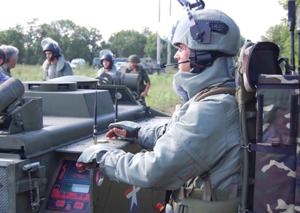 Инженеры ЮВО испытали робототехнический комплекс Уран-6