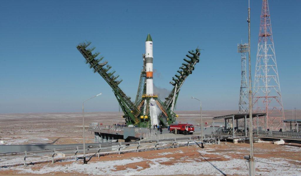 Ракета-носитель «Союз-2-1а» перед стартом