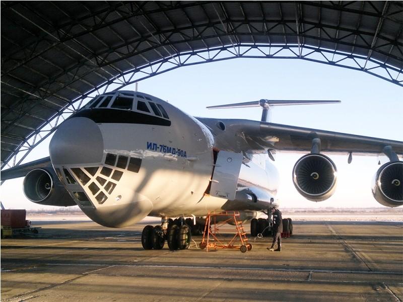 Первый самолет Ил-76МД-90А, предназначенный для специального авиационного комплекса, успешно выполнил первый полет