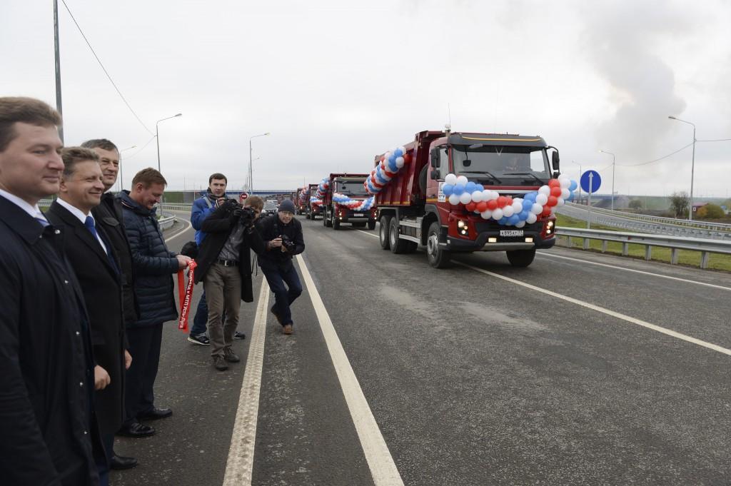 В Ленинградской области состоялось открытие подъезда к порту «Усть-Луга» с развязкой на трассе «Нарва»
