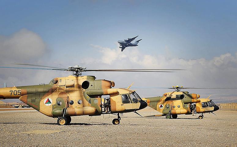 Ми-17В-5 десантно-транспортные вертолеты в Афганистане