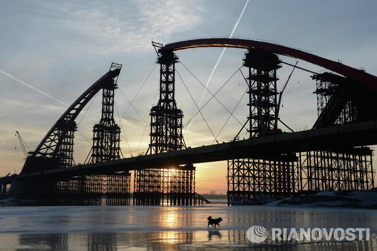 8 октября состоялось торжественное открытие моста через реку Обь в Новосибирске