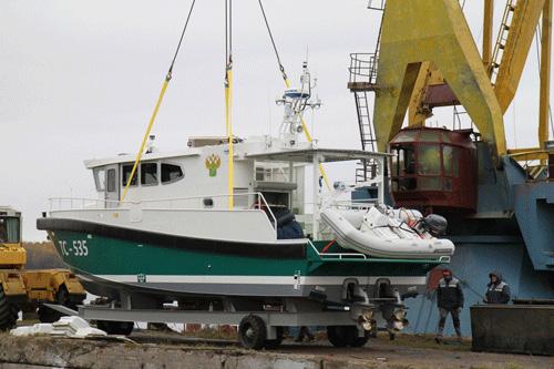 «Озерная Верфь» спустила на воду судно для Карельской таможни