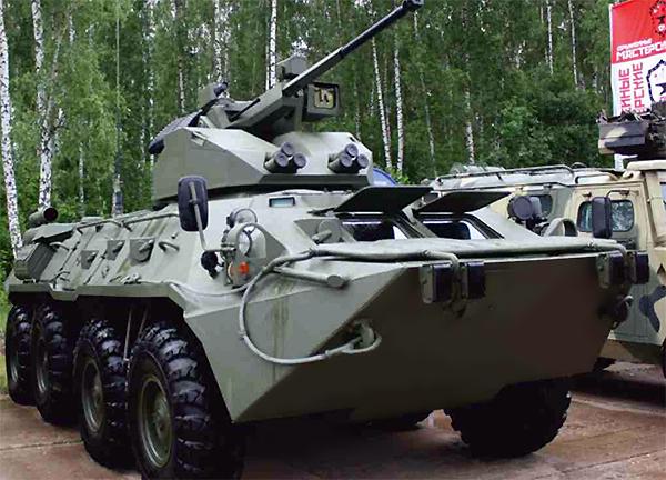 Представлена новейшая модификация колесного бронетранспортера БТР-88