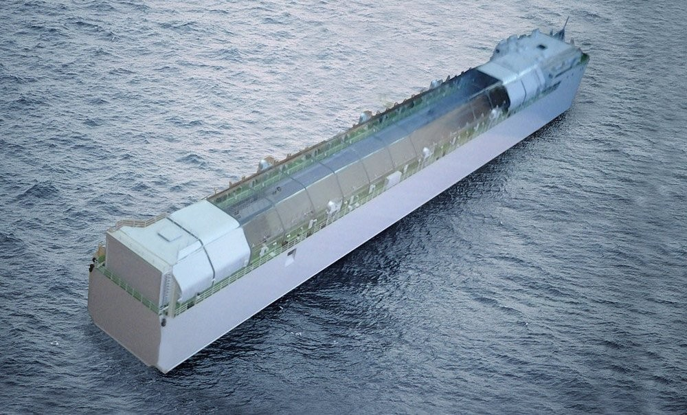 В Татарстане спустили на воду новейший транспортный плавучий док для нужд Северного флота