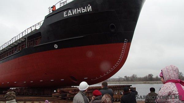 В Саратовской области спущен на воду теплоход класса «река-море»