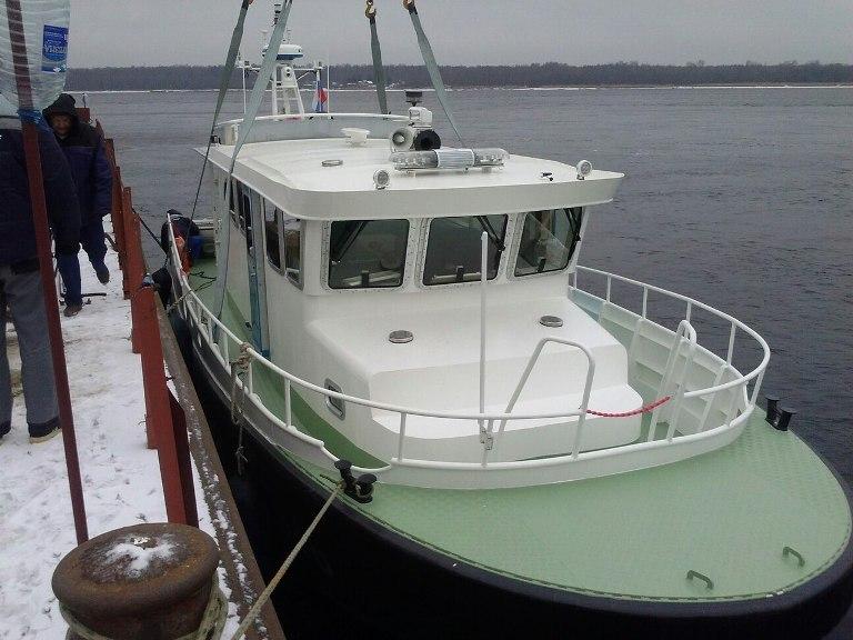 «Озерная Верфь» спустила на воду катер проекта 14М для ФТС России и заложила киль катера проекта 17MJ