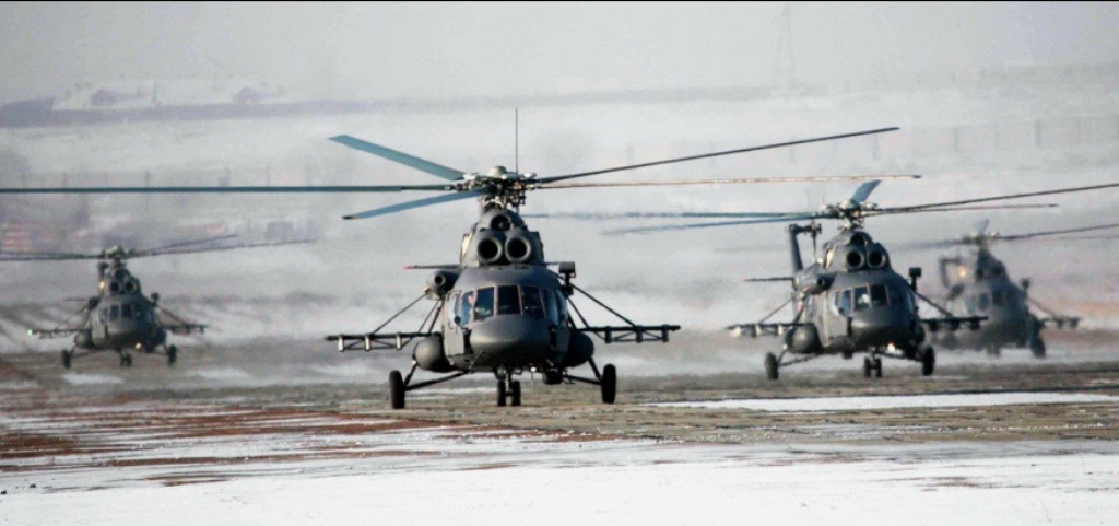 Группа вертолетов Ми-8АМТШ