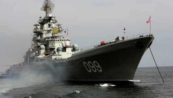 """Атомный крейсер """"Петр Великий"""" вышел в Баренцево море после ремонта"""