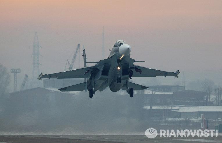 Новые истребители Су-30СМ поступили в авиационный полк в Забайкалье