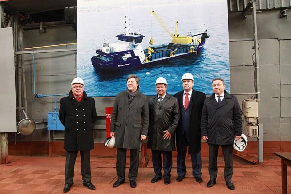 На заводе «Красное Сормово» состоялась закладка первого в серии дноуглубительного судна для ФГУП «Росморпорт»