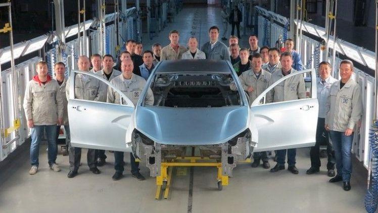 В Ижевске изготовлен первый кузов Lada Vesta