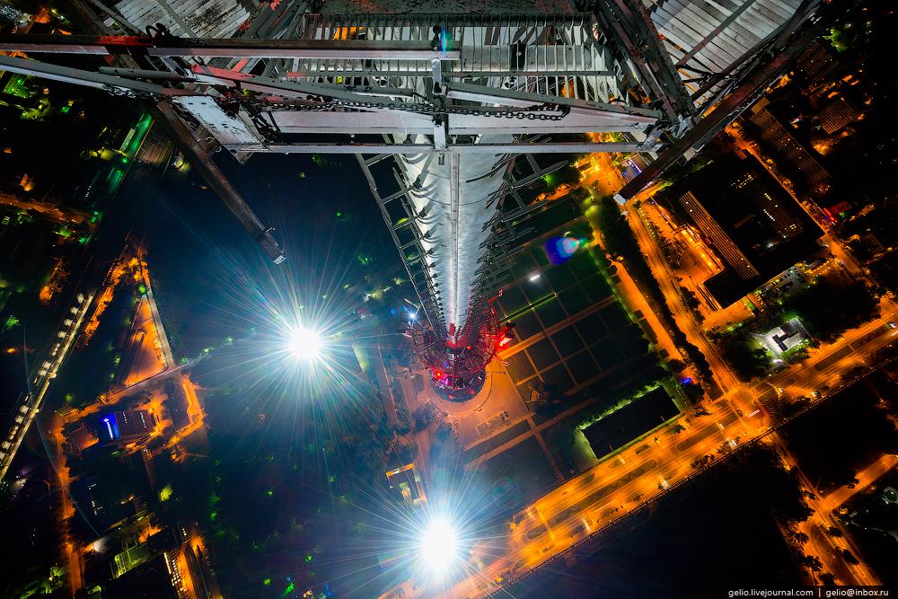строительство останкинской башни фото