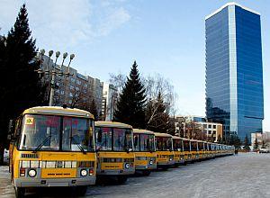 32 новых школьных автобуса переданы в муниципалитеты Красноярского края